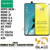 OPPO A9 2020 F7 YOUTH Tempered Glass/ Anti Gores Kaca FulLem 5D/9D