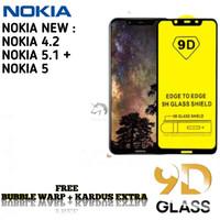 NOKIA 5 4.2 5.1+ Tempered Glass/ Anti Gores Kaca FulLem 5D/9D - NOKIA 5