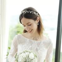 Aksesoris Rambut Bando Bandana Pesta Tiara Pengantin Wedding B40