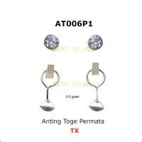 Anting Toge Perak / Silver 0.5 - 1.0 gram