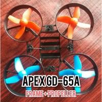 frame drone APEX GD-65A + propeller merah biru