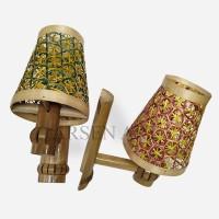 Kerajinan Tangan Hiasan Lampu Dudukan Lampu Bambu