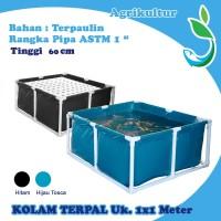 Kolam Ikan Terpaulin 100X100x60 cm Pengganti Bak Fiber 12575