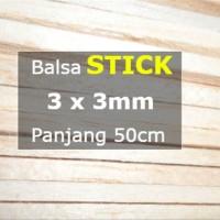STICK Kayu Balsa 3mm 3mm x 50cm