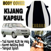 Body Cover KIJANG KAPSUL Strip SILVER Sarung Mobil Kj LGX LSX PREMIUM