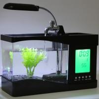 Aquarium Ikan Mini USB Desktop Fish Tank Running Water LS0404