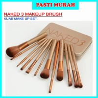 [ isi 12 kuas ] MAKE UP BRUSH NAKED 3 BRUSH SET KIT Foundation
