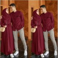 Baju Setelan Muslim Emon Couple Baju Sarimbit Lengan Panjang