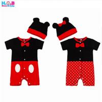 Mickey Long Jumper Set (WIth Hat) / jumper mickey lucu / romper bayi