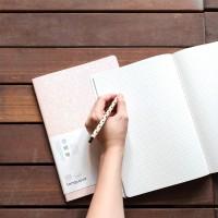 Floating Dream Glitter Grid Notebook B5 / Buku Tulis B5 / Buku Catatan