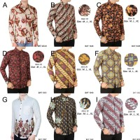 Baju Kemeja Batik Pria Lengan Panjang Slimfit