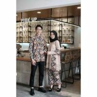Couple Batik Clarissa / Kebaya Baju Pesta Clarisaa Set