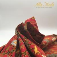 Alta Moda Batik Katun Parang Burung Merah Oranye -Tradisional (1M)
