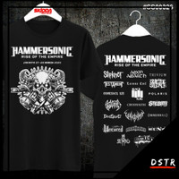 Kaos Baju Distro Konser Musik Metal Hammersonic Warna Hitam SS00326