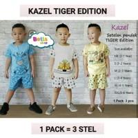 Kazel Setelan Baju Pendek Cowo Anak Laki-laki Tiger Edition-BELLA SHOP