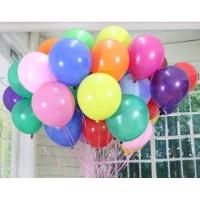 Balon isi 50 Pcs Latex Doff / Balon Warna Warni / Balon Doff
