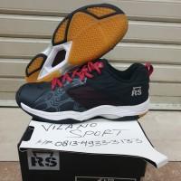 Sepatu Badminton RS Jeffer LTD HITAM/Merah