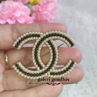Bros Bahu Logo Channel Mutiara Gold - Pin Bros Jilbab - Bros Kebaya