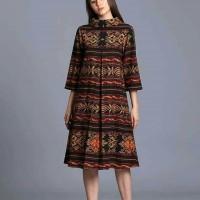 dress tenun ethnic kain jepara motif ntt