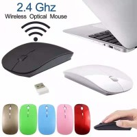 Mouse wireless/wireless Slim mirip Mac Apple