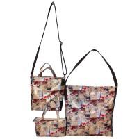 PAKET HEMAT TAS CANTIK 3in1, Shoulder bag / sling bag / hand bag