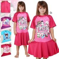 baju renang/Diving rok anak SD Cewek ABG tanggung karakter terbaru - M