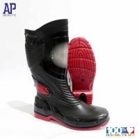 SEPATU BOOT SEPATU BIKERS - AP MOTO 3 BLACK/RED 39-45 - AP BOOTS