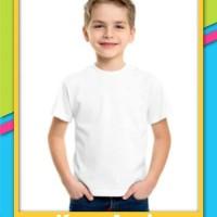 Baju Kaos Polos Anak - Putih - 14 18000 28100 200 0