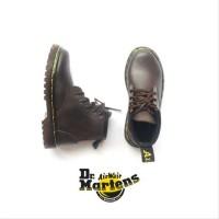 Sepatu docmart boot anak coklat