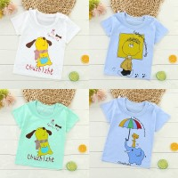 Mantap Korea Bayi Laki-laki T-Shirt Anak-anak Musim Panas Anjing