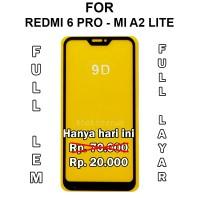 Tempered Glass Xiaomi Redmi 6 Pro Mi A2 Lite anti gores full cover 5D