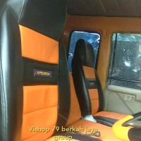 sarung jok mobil bungkus jok mobil mitsubishi fuso bahan kain MB