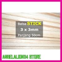 Sale K5 Stick Kayu Balsa 3Mm 3Mm X 50Cm