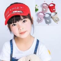 Topi golf baseball senam rajut anak kitty korea import