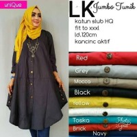Baju Atasan Muslim Tunik LK Gamis katun big size