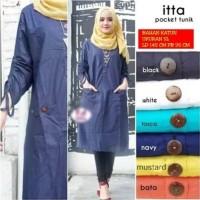 Baju Muslim Kemeja Tunik LKI Gamis katun Big size 5L Good Quality