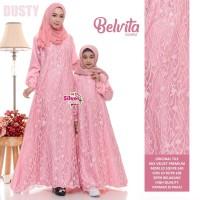 Baju Gamis Couple Ibu dan Anak Belvita Tile mix Velvet Premium Quality