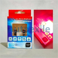 Autovision Microzen LED T10 Canbus Red Merah Lampu Senja Motor Mobil