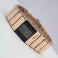 Jam tangan fashion wanita/pria digital model gelang rantai elegan