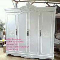 Lemari Pakaian 4-pintu kayu jati cat duco Chat Ke- WSapp-087815659477