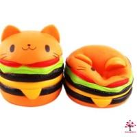 Baru Mainan Squishy Model Slow-Rising Bahan PU Elastis Bentuk Burger