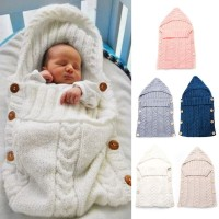 Promo 【BT】Baby Infant Sleeping Bag Selimut Rajut Bedong Lembut