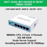 Paket Usaha Wifi Voucher RT RW NET Mikrotik RB750gr3