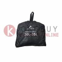 Rain Cover Eiger 910005465 001 Black Transparent Bag Cover M 30-35L