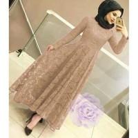 maxy brokat M-L-XL/maxi dress/baju brokat/baju muslim/gamis/kondangan