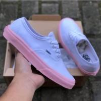 Sepatu Vans Autentic White Pink Size 36-40 Premium Made In Vietnam