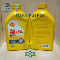 OLI OIL MESIN SHELL HELIX HX5 HX 5 HX-5 1LT 1000ML 15W40 15W-40 ASLI