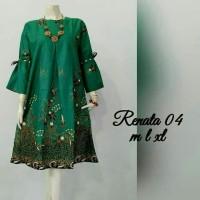 atasan jumbo tunik batik - baju batik wanita modern