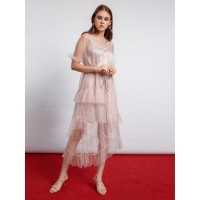 ATELIER MODE Cocktail Dress Sheer in Tulle Candella Dress Wanita