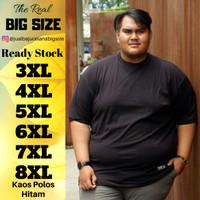 Kaos Polos Pria Big Size XXXL XXXXL 5XL 6XL 7XL 8XL Hitam Putih Navy